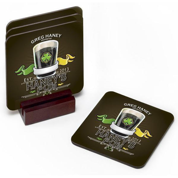 Personalized Coaster Set - IrishPub - JDS