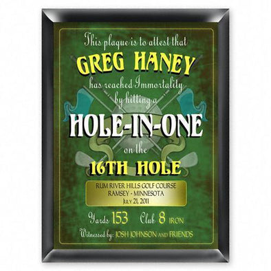Personalized Hole in One Plaque -  - JDS