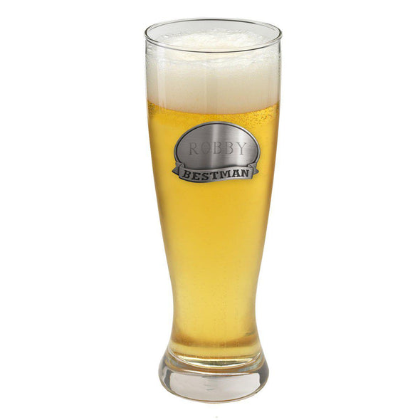Personalized Grand Pilsner w/Pewter Medallion - Groom - JDS