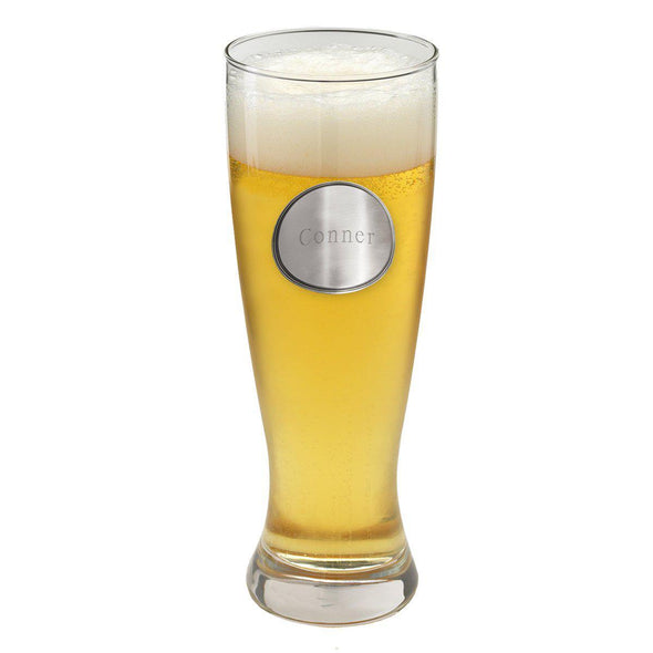 Personalized Grand Pilsner w/Pewter Medallion - Groomsman - JDS