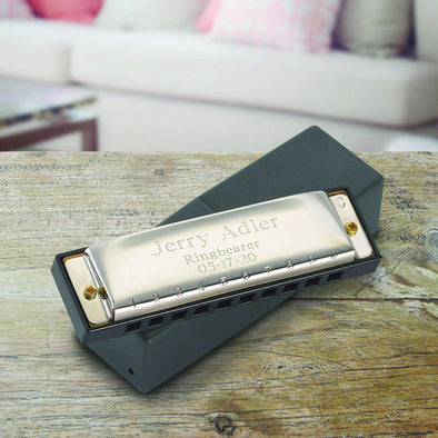 Personalized Stainless Steel Harmonica -  - JDS