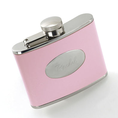 Personalized Pink Wrapped Flask -  - JDS