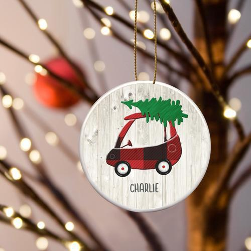 Personalized Kids Car Ceramic Ornament -  - JDS