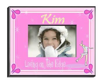 Personalized Little Girl Collection of Children's Picture Frames - All - Iceskater - JDS