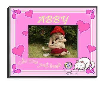 Personalized Little Girl Collection of Children's Picture Frames - All - Kitten - JDS