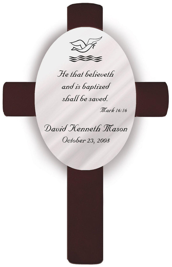 Personalized Baptism Crosses - B2 - JDS