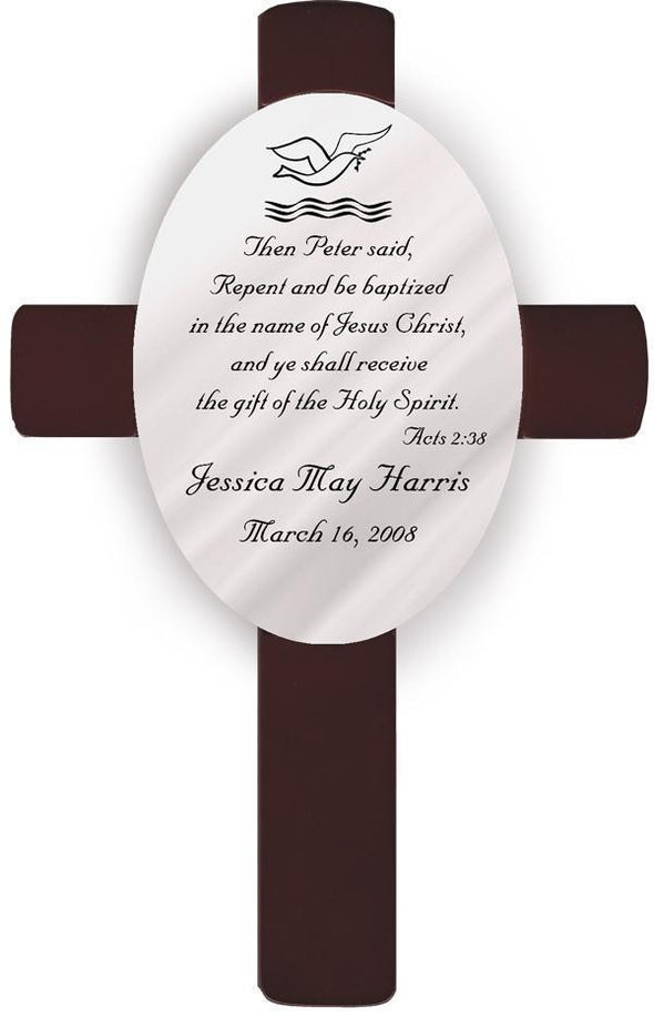 Personalized Baptism Crosses - B1 - JDS