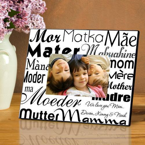 Personalized Mom in Translation Frame - Black/White -  - JDS
