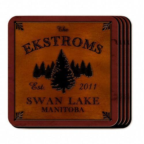 Custom Cabin Series Coasters - Coaster Set 9 Designs - Spruce - JDS