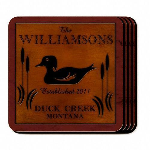 Custom Cabin Series Coasters - Coaster Set 9 Designs - Duck - JDS