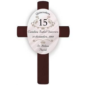 Personalized Quinceanera Cross -  - JDS