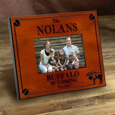 Personalized Cabin Series Picture Frames - Moose - JDS