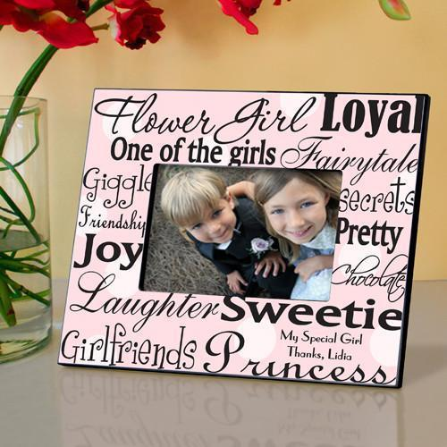 Personalized Flower Girl Picture Frame - PinkDots - JDS
