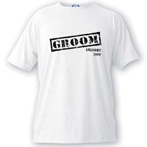 Personalized Stamp Series Groom T-Shirt -  - JDS
