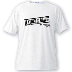 Personalized Stamp Series Father of the Bride T-Shirt -  - JDS