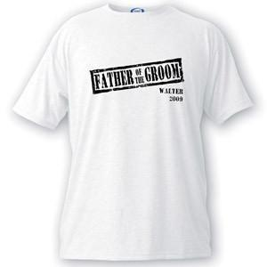 Personalized Stamp Series Father of the Groom T-Shirt -  - JDS