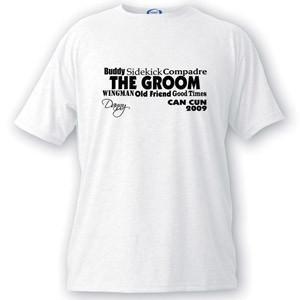 Personalized Text Series Groom T-Shirt -  - JDS