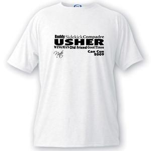 Personalized Text Series Usher T-Shirt -  - JDS