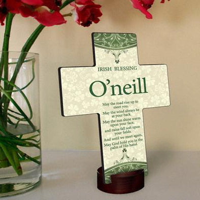 Personalized Classic Irish Cross with Stand -  - JDS