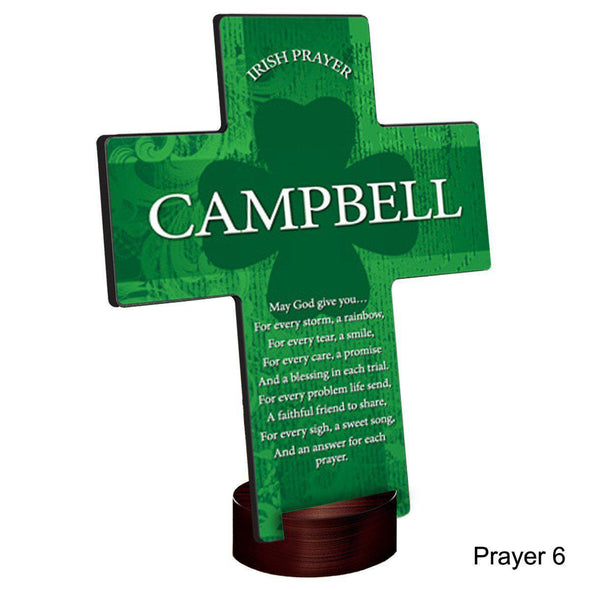 Personalized Irish Blessing Shamrock Cross with Stand -  - JDS