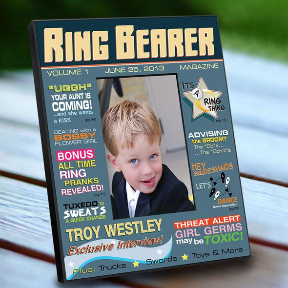 Personalized Ring Bearer Magazine Frame -  - JDS