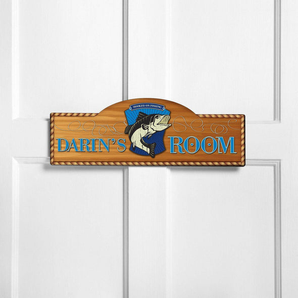 Personalized Kid's Door Signs - Room Sign - Sports Themed Signs - GoneFishin - JDS