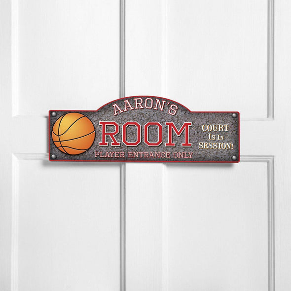 Personalized Kid's Door Signs - Room Sign - Sports Themed Signs - Hoops - JDS