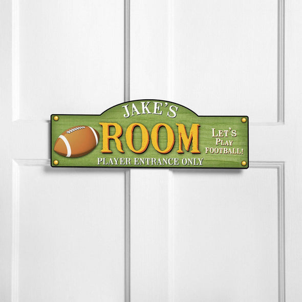 Personalized Kid's Door Signs - Room Sign - Sports Themed Signs - Touchdown - JDS