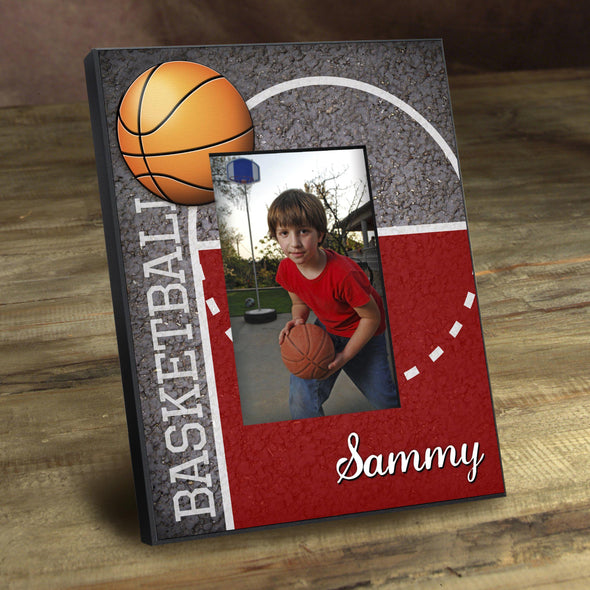 Personalized Picture Frames -  Kids Sports Frame - Hoops - JDS