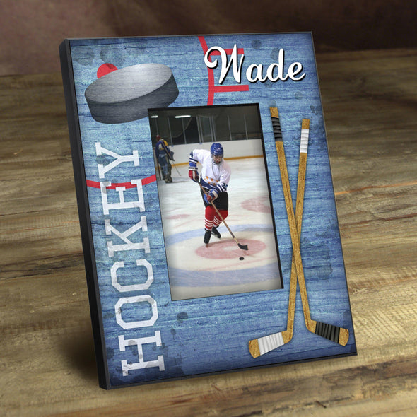 Personalized Picture Frames -  Kids Sports Frame - Hockey - JDS
