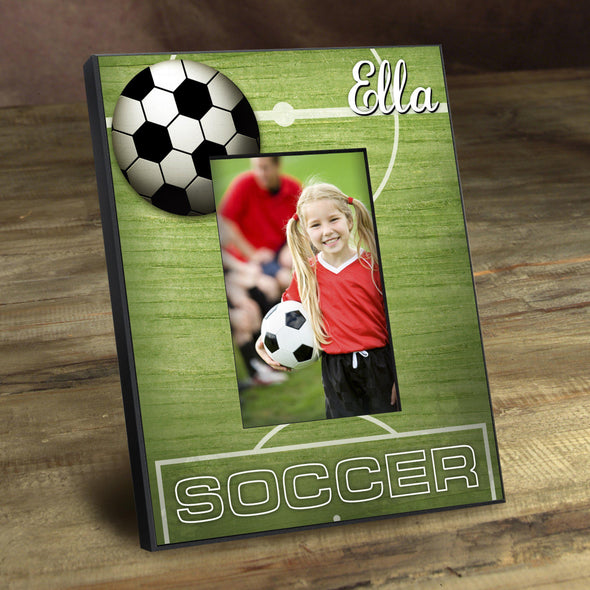 Personalized Picture Frames -  Kids Sports Frame - Soccer - JDS