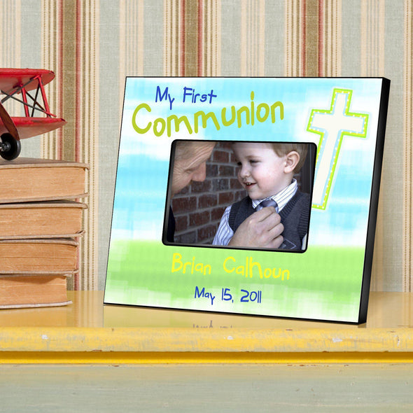Personalized First Communion Picture Frame - All - Bright - JDS