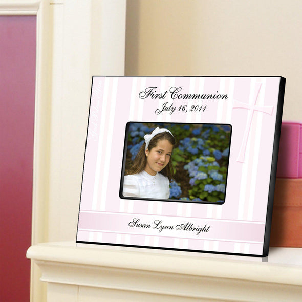 Personalized First Communion Picture Frame - All - GodBless - JDS