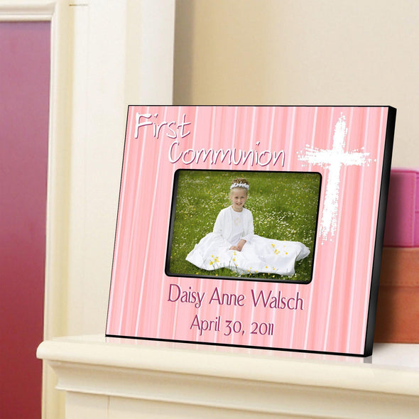 Personalized First Communion Picture Frame-Light of God - Pink - JDS