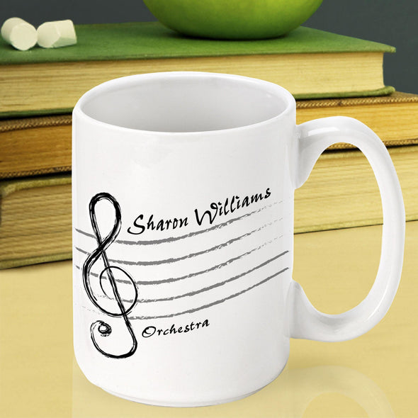 Personalized Teacher Coffee Mugs - MusicTrebleClef - JDS