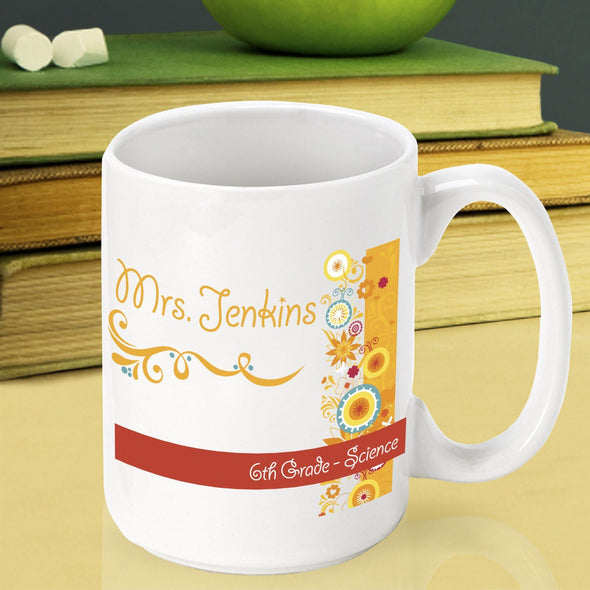 Personalized Teacher Coffee Mugs - SunshineandFlowers - JDS