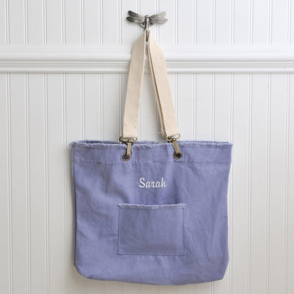 Personalized Canvas Tote Bags - 4 Colors - Blue - JDS