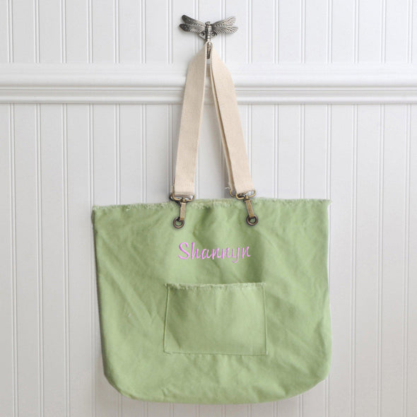 Personalized Canvas Tote Bags - 4 Colors - Green - JDS