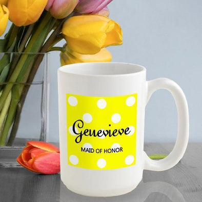 Personalized Polka Dots Coffee Mug -  - JDS