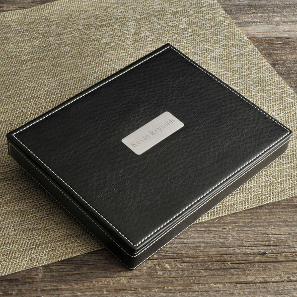 Personalized Valet Tray - Deluxe - Leather -  - JDS