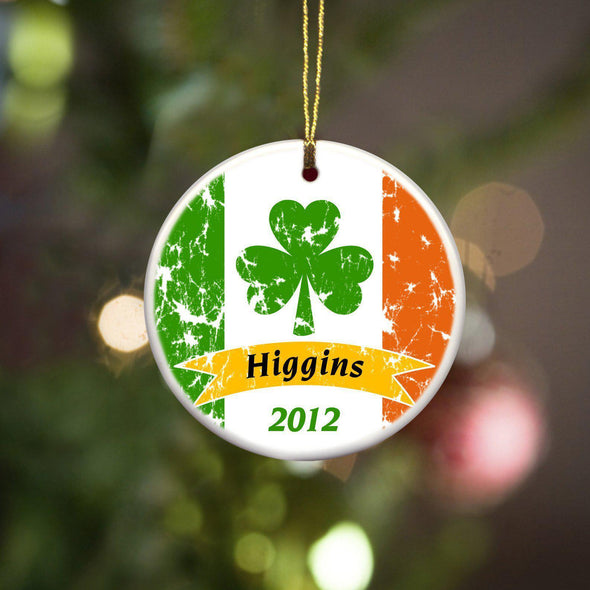 Personalized Irish Ceramic Ornaments - IrishPride - JDS