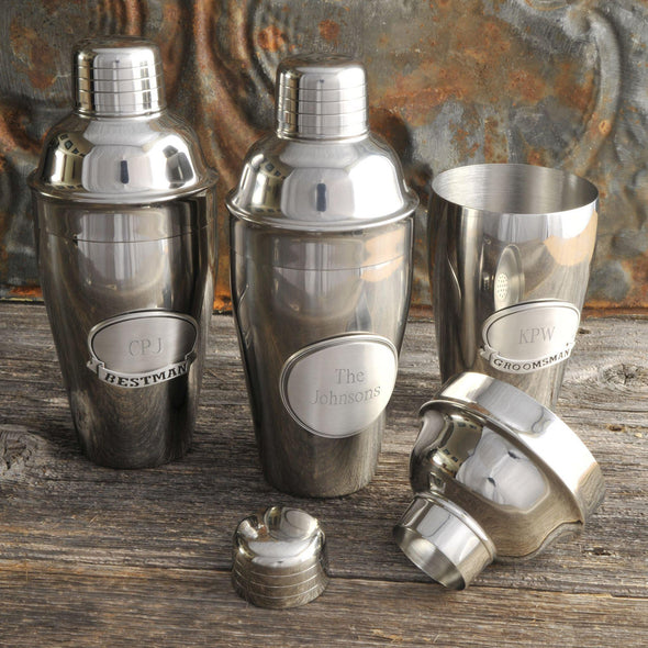 Personalized Mixologist Cocktail Shaker w/Pewter Medallion -  - JDS