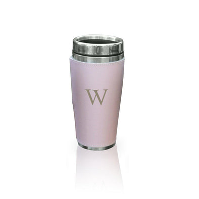 Personalized Pink Leather WrappedTumbler - Stainless Steel -  - JDS