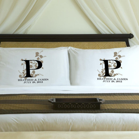 Personalized Nature's Bliss Couples Pillow Case Set - Sand - JDS