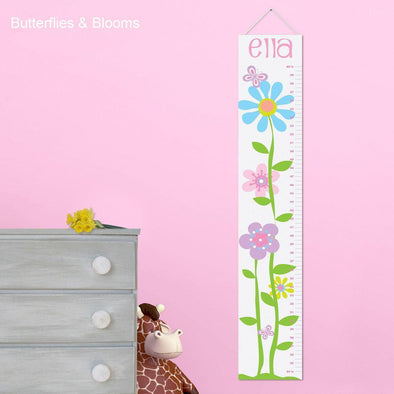 Personalized Growth Chart - Height Chart - Girls - Gifts for Kids - Butterfliesandblooms - JDS