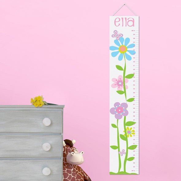 Personalized Growth Chart - Height Chart - Girls - Gifts for Kids - ButterfliesBlooms - JDS