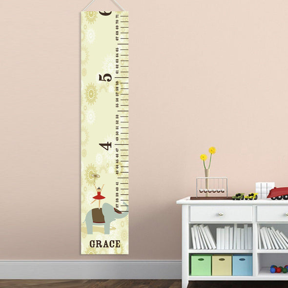 Personalized Growth Chart - Height Chart - Girls - Gifts for Kids - CircusPrincess - JDS