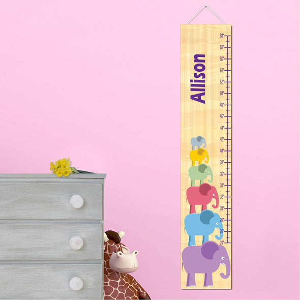 Personalized Growth Chart - Height Chart - Girls - Gifts for Kids - GirlStackEle - JDS