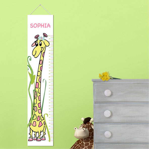 Personalized Growth Chart - Height Chart - Girls - Gifts for Kids - GirlyGiraffe - JDS