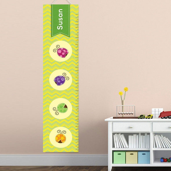 Personalized Growth Chart - Height Chart - Girls - Gifts for Kids - LadyBug - JDS